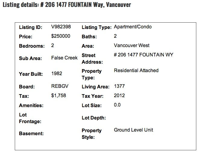 206 1477 Fountain Way